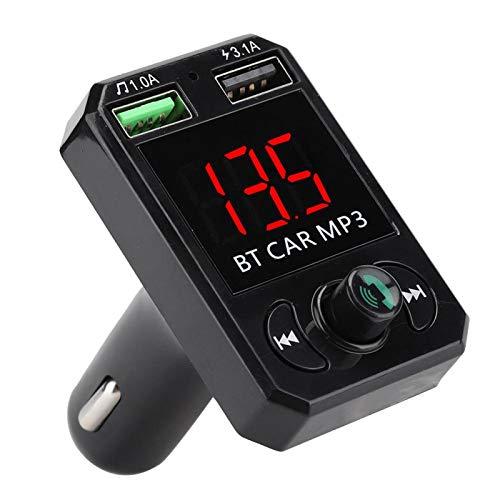 Mini transmisor Bluetooth con función a Prueba de Golpes Coche MP3 Llamada Manos Libres Adaptador de Audio USB Dual