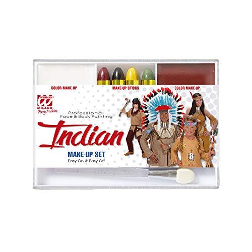 Widmann 02405 Make Up Set Indianer, Unisex-Kinder, mehrfarbig, Taglia unica