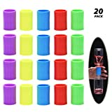 Tornado in A Bottle, 20 Pcs Plastic Tornado Bottle Connector Vortex Connector Cyclone Tube for Scientific Experiment, 5 Colors