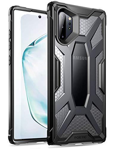 Poetic Galaxy Note 10 Plus Custodia, Protettiva Ibrida Trasparente, Robusta e Leggera, Serie Affinity Custodia per Samsung Galaxy Note 10+ Plus 5G, Gelo Chiaro/Nero