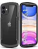 Tentoki iPhone 11 Case, Full Shockproof Clear Hard Back