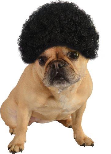 Rubie's Pet Costume Afro Curly Wig, Medium To Large, Black