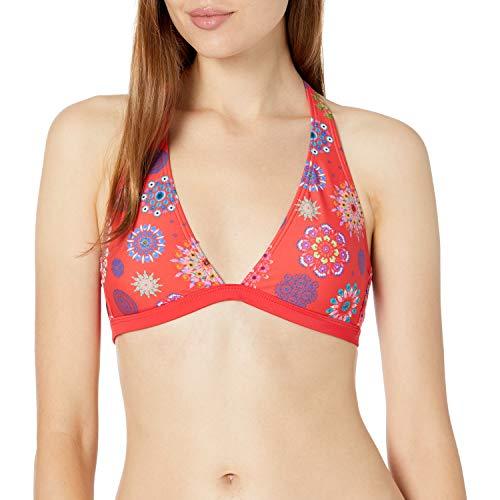 Desigual Biki Manly Parte Superior de Bikini, Rosso, XL para Mujer