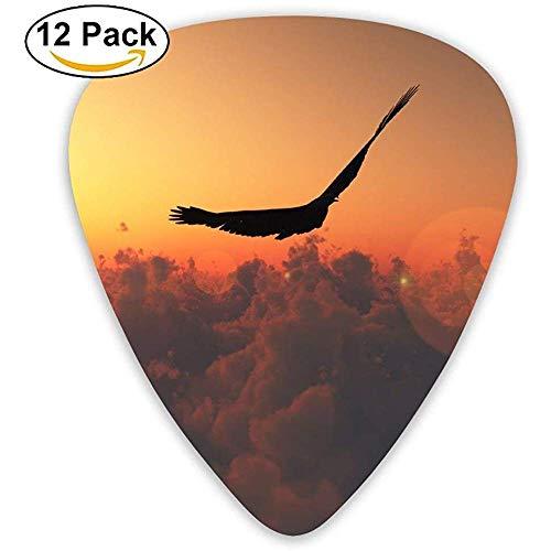 Een vogel die vrij vliegt in de zonsondergang Freedom Gitaar Pick 12pack