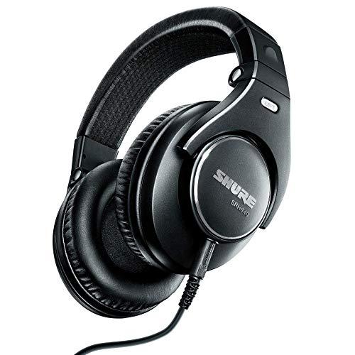 Shure SRH840-BK-EFS Professional Closed-Back Studio and Hi-Fi Headphones,...