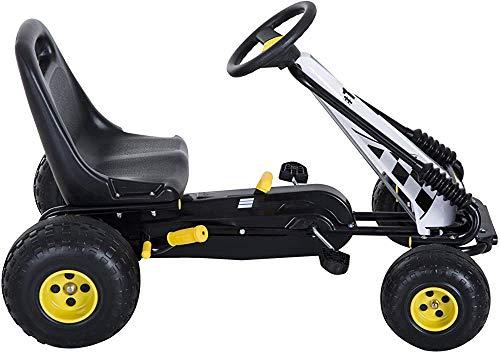 Los niños pedal de carreras rueda de goma kart Juji,Yellow