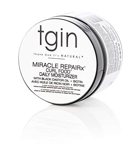 tgin Miracle RepaiRx Curl Food Daily Moisturizer For Natural Hair - Dry Hair - Curly Hair - 12 Oz