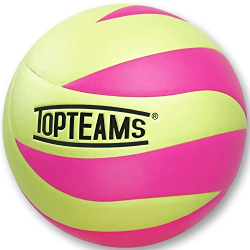 TOPteams Beachvolleyball,Volleyball,Beach und Funball Größe 5 Weicher Ballkontakt (Rosa)