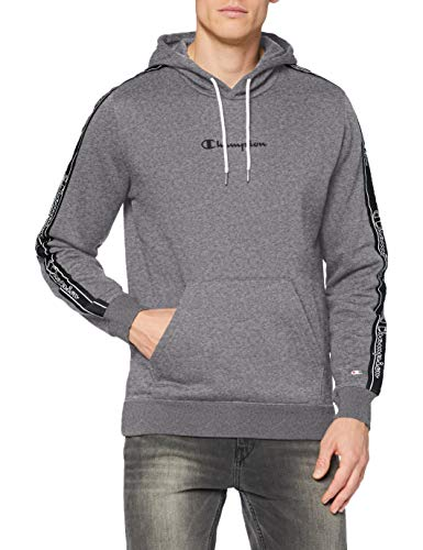 Champion Herren Men's Seasonal Tape Hooded Sweatshirt Kapuzenpulli, Grau (EM515), XX-Large