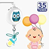 ColorfulStream-35 Tunes Electrical Baby Crib Mobile Music Box, Battery-Operated,Coming with DIY Stickers...