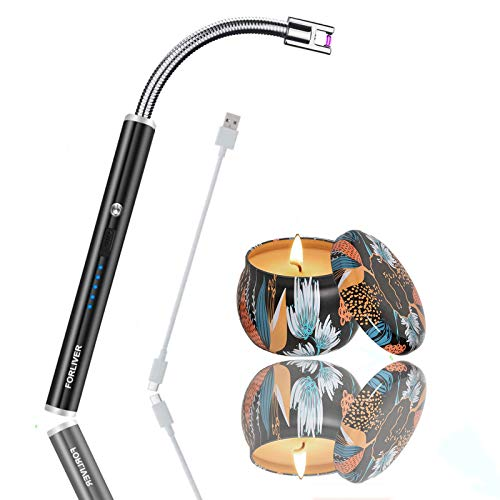 Luz para velas, linterna eléctrica, linterna de camping recargable, resistente al viento,...