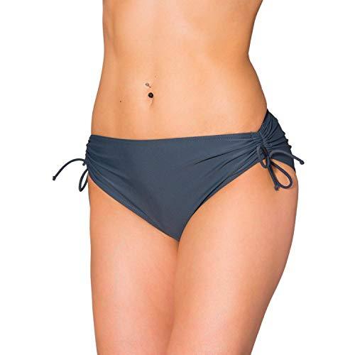 Aquarti Braguita de Bikini con Cordón Ajustable para Mujer, Grafito, 38