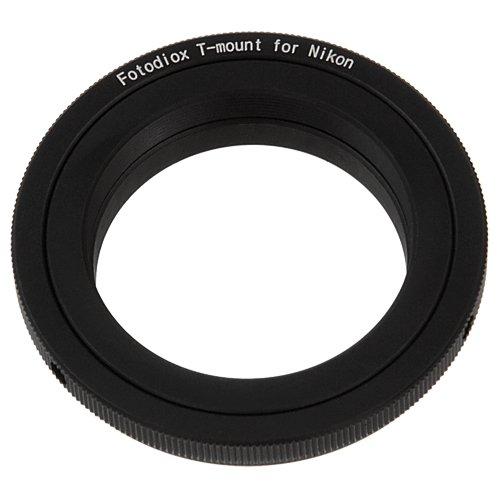 Fotodiox T/T2 - Adaptador para Objetivos de cámaras Nikon, Negro