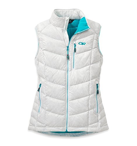 Outdoor Research Women's Sonata Down Vest, White/Typhoon, Medium