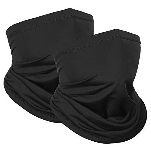 Achiou Neck Gaiter Face Mask Scarf (2 Pack) Dust Lightweight Windproof