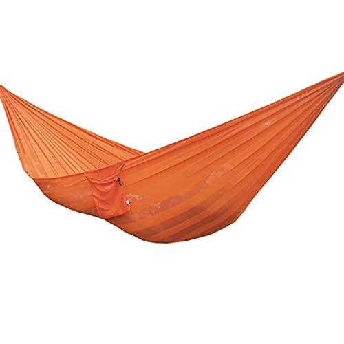XKRSBS Hamaca, Camping Portátil De Doble Seda del Hielo De Malla Transpirable Hamacas De Viaje con Mochila Senderismo, Playa Y Patio Trasero Patio,Naranja