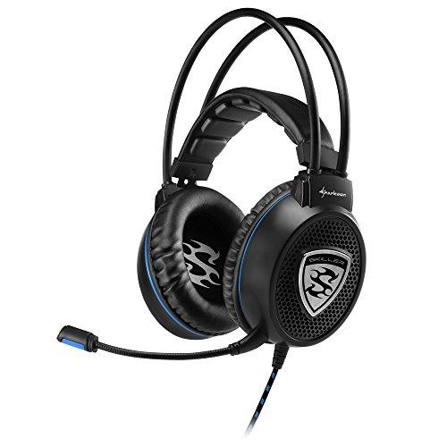 Sharkoon Skiller SGH1 Stereo Gaming Headset (für PC, PS4, 50-mm-Lautsprecher, Extra-Große Ohrpolster, Gefederte Kopfbandaufhängung) schwarz