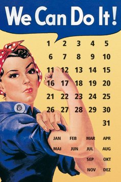 Blechschild 20x30 cm We can do it - Kalender -Frauenpower RV 300/009