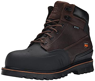 Timberland PRO Mens 6 Inch Rigmaster XT Steel Toe Waterproof Work Boot, Brown Tumbled Leather, 13 M US