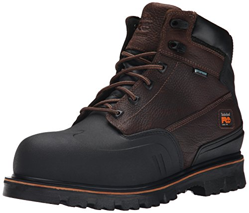 Timberland PRO Mens 6 Inch Rigmaster XT Steel Toe Waterproof Work Boot, Brown Tumbled Leather, 11 M...