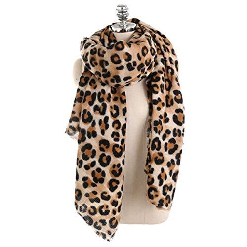 Asuadro Frauen Winter Warm Cashmere Pashmina Schal Wrap Leopardenmuster Licht Langen Schal Nackenwärmer,EINWEG Verpackung