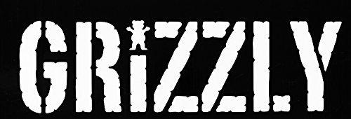 SUPERSTICKI® Grizzly Grip Logo Griptape Skateboard Sticker Decal achtergrond/afmetingen in inch vinyl stickers | Cars Trucks Vans Walls Laptop | WHITE | 7,5 x 2,25 in|CCI508