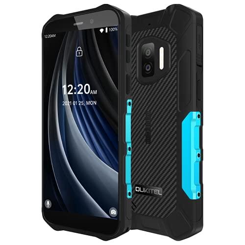 OUKITEL WP12 Pro Android 11 Smartphone Incassable(Poids Léger), Quad Core 4Go RAM+64Go ROM,Batterie 4000mAh,Écran HD+ 5,5'', Caméra Triple (sous-Marine) 13MP, Téléphone Portable IP68 IP69K NFC Bleu