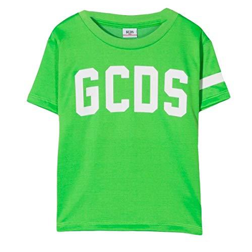 GCDS T-Shirt für Mädchen, 022522FL, Grün mit weißem Logo aus Baumwolle PE20, Grün 6 Jahre