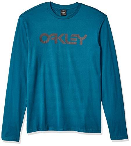 Oakley Mens Herren Mark II L/S Tee Hemd, Blau/Koralle, XXL