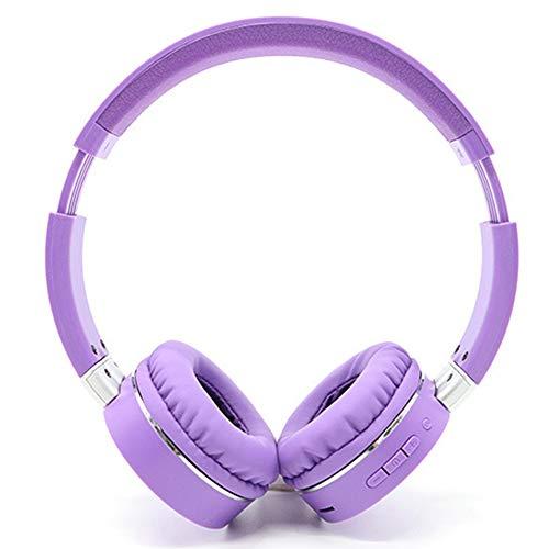 Wsaman Bluetooth Kopfhörer Over Ear, kabellose Geringe Verzögerung Headphones Ohrhörer mit Memory-Protein Ohrpolster Wasserdicht Noise Cancelling Sportkopfhörer für iPhone/ipad/Android/Laptops,Lila