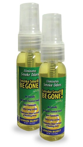 Smoke Smell Be-Gone! Smoke & Odors Eliminator for Home, Office & Car. Natural Non-Aerosol Air...