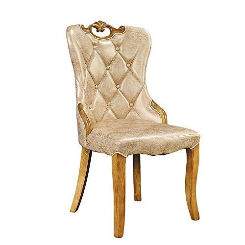 HYY-YY Silla de comedor de 2 pedazos sala de estar moderna minimalista de madera maciza Silla de comedor sólida llena el marco de madera de alta densidad esponja respirable cómodo el Presidente Adecua