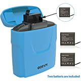 5200mAh Action Camera Battery Power Bank with USB Dual Battery Chambers and Two Batteries for AKASO, Crosstour, Campark, APEMAN, Victure, FITFORT, EKEN Sports Underwater Camera