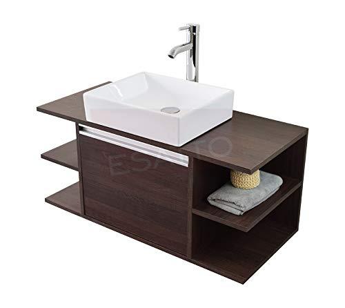 Esatto® Fantastico Mueble Baño Detc Platz Lavabo Ovalin Llave Desagües