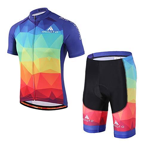 MILOTO fietsshirt voor heren en korte broeken met korte mouwen Reflecterend