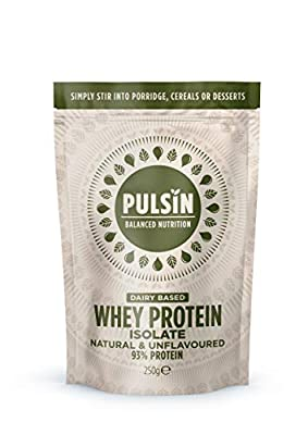Pulsin' Unflavoured Whey Protein Powder 250g (Isolate)| 93% Protein | Gluten Free | Natural | Grass Fed by Pulsin Ltd