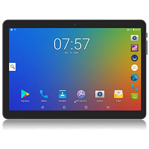 Android Tablet 10.1 Zoll Octa Core 4 GB RAM 64 GB ROM IPS Bildschirm - YELLYOUTH 10 Zoll entsperrte Tablets mit SIM Kartensteckplatz und WiFi GPS Bluetooth Phablet (Schwarz)