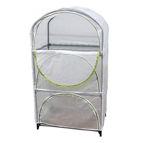 Serres de Jardin Tunnel Petite pour l'intérieur - Balcon Green House pour terrasse protégée, 3 Niveaux, 70 × 48 × 125 cm Tomate