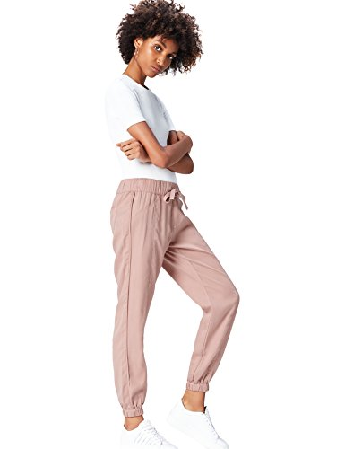 Marchio Amazon - find. Pantaloni Donna, Rosa (Pink), 44, Label: M