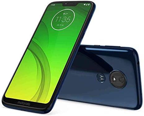 "Motorola Moto G7 Power (64GB, 4GB RAM) Dual SIM 6.2"" 4G LTE (GSM Only) Factory Unlocked Smartphone International Model XT1955-2 (Marine Blue) (Renewed) WeeklyReviewer"