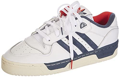 adidas Rivalry Low Premium, Zapatillas Deportivas Hombre, FTWR White Cream White Crew Navy, 40 2/3 EU