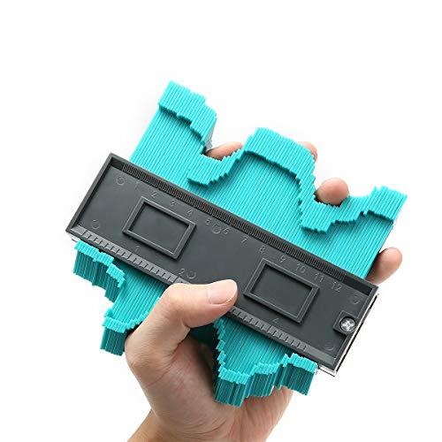 Konturenlehre 4.7''/120MM, Charminer Fliesen Laminat Duplikator Wickelrohre Holzarbeitung Markierungswerkzeug Profil Kopierer mit Skala unregelmäßiges Konturmessgerät für kreisförmige Rahmen
