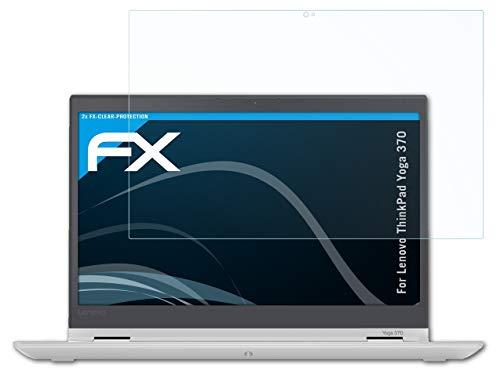atFolix Schutzfolie kompatibel mit Lenovo ThinkPad Yoga 370 Folie, ultraklare FX Bildschirmschutzfolie (2X)