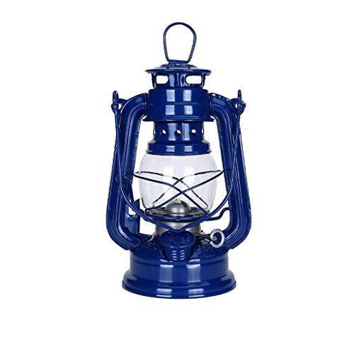 GCMJ Öllampe Maritime Schiff Laterne Antike Nauticas Messing Kupfer Garten Brennen Laterne Lichter (Color : Navy blue)