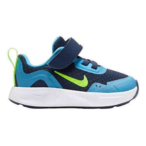 Nike Wearallday (TD), Zapatillas Unisex niños, Midnight Navy Volt Baltic Blue White, 18.5 EU