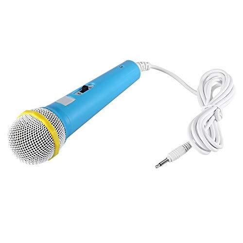 Socobeta Mikrofon süß Exquisite Mikrofon tragbares Kindermikrofon für Kinder für Party(Blau)