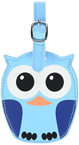 Kikkerland Whoo Owl Luggage Tags, Assorted  (TT12-A)