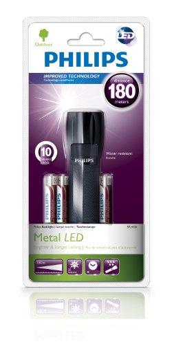 Flashlight Metal Lampe de Poche Métal 4100 Lampe de Poche-Noir