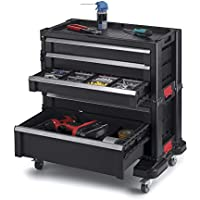 Keter 5-Drawer Rolling Tool Chest with Storage Drawers for Mechanics and Home Garage