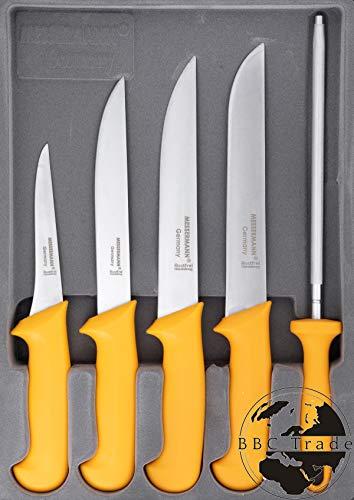 Fleischmesser Set 5er Box Fleischermesser, Stechmesser, Ausbeinmesser Wetzstahl
